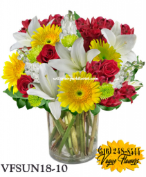 GARDENIA SUNSHINE FLORAL ARRANGEMENT