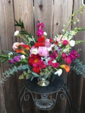 Garden's Delight On a Pedestal