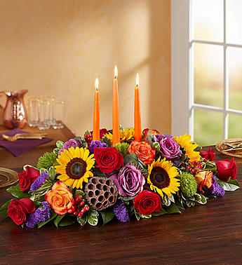 Gardens of Fall Centerpiece Thanksgiving