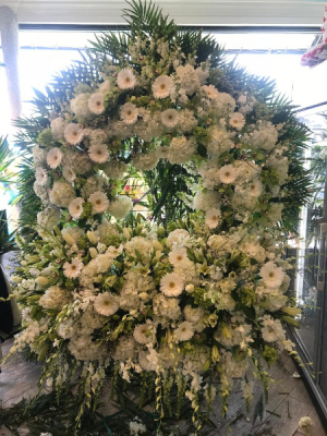 Gates Of Heaven Funeral Flower Tribute Custom Funeral Piece in Bronx, NY | Bella's Flower Shop