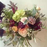 Gathered handtied Bouquet Valentines