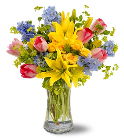 Summer gatherings floral arrangment in colorado springs co product description a beautiful gathering of spring flowers mightylinksfo