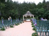 Gazebo and Aisle Decor Outdoor Ceremony