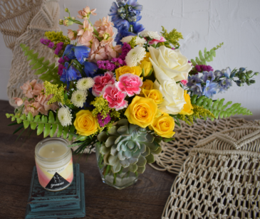 Gemini Vase Flower Arrangement
