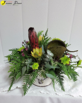 Fall-Protea Presentation Protea & a Buddha Nut is a great choice for him