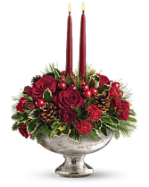 Geno's Mercury Glass Bowl Bouquet All-Around