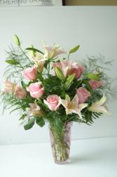 Gentle Pink Arrangement Vase Arrangement