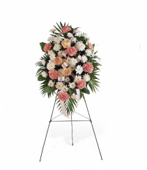 Gentle Thoughts Spray by Teleflora Standing Easel Spray
