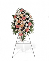 Gentle Thoughts Standing Spray Funeral Flowers