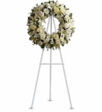 GENTLE WHISPER  FUNERAL WREATH