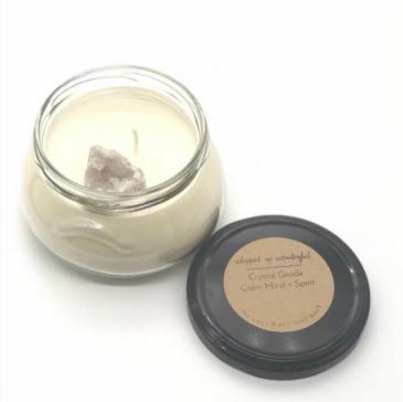 Geode Healing Stone Candle- Calm Mind + Spirit
