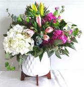Geometric Bowl Floral Design