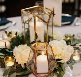 Geometric Table Arrangement  Reception Flowers