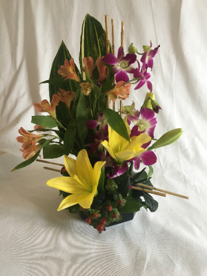 Geometry Softened Centerpiece in Norway, ME | Green Gardens Florist & Gift Shop