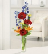 Gerber Gala Vase Arrangement