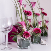Gerbera and Lilies Table Arrangements