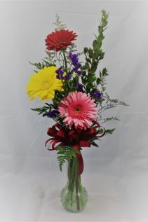 Gerbera Budvase - 3 Assorted  Vase
