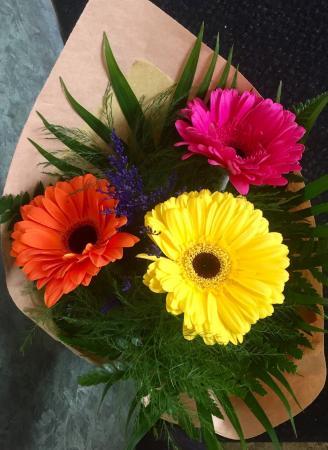 Gerbera Bouquet Cuts, no vase