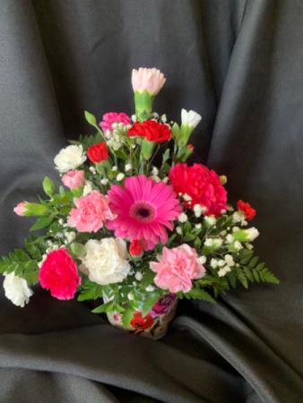 Gerbera & Carnations  Floral Arrangement