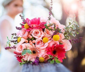 Gerbera Daisies and Roses Bridal Bouquet