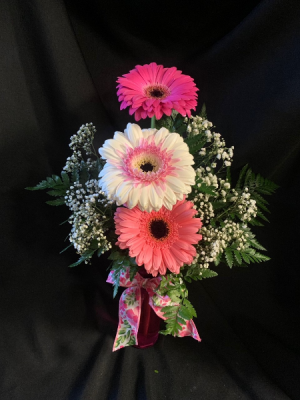 Gerbera Daisy Bud Vase (*Everyday Best Seller) in Red Lake, ON | FOREVER GREEN GIFT BOUTIQUE