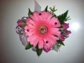 Gerbera daisy corsage