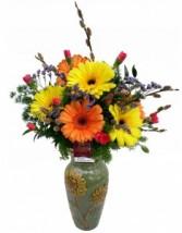 Gerbera Daisy  Vase Arrangement