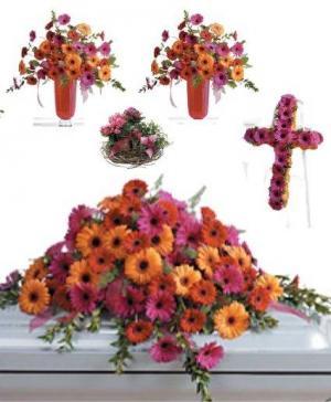 Gerbera Funeral Premium 1 Package in Abbotsford, BC   BUCKETS FRESH FLOWER MARKET INC.