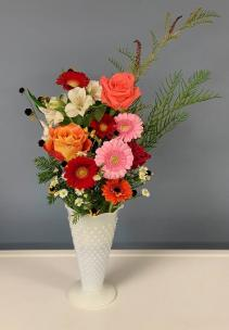 Gerbera in the garden Vase Arrangement