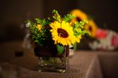 Gerbera Love Square Vase arrangment