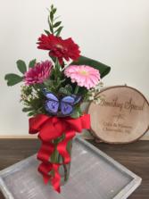 Gerbera trio  Vase arrangement