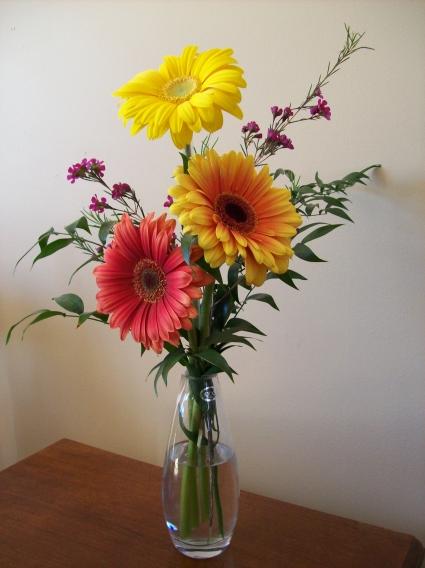 Gerbera Vase Vase In Charlottetown Pe Hearts And Flowers