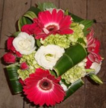 Gerberas & Hydrangea Square Block Arrangement
