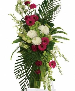 Gerberas Standing Spray Sympathy in Canton, GA | Canton Florist