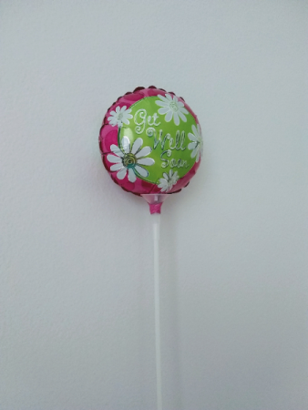 "Get Well 4"" foil balloon"