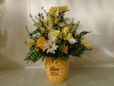 Bee Well Honey Pot Arrangement
