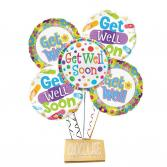 Get Well Balloon Bouquet-DeBrand Candy Bar