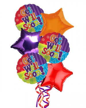 Get Well Balloon Bouquet in Coral Springs, FL | DARBY'S FLORIST