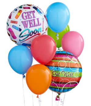 Get Well Balloon Bunch  in Riverside, CA | The Flower Alley