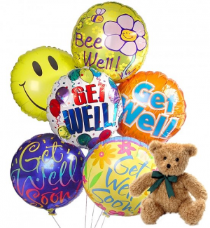 Get Well Balloon  Plush and Get Well balloons BQT in Falls Church, VA   Geno's Flowers