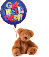 Get Well Bear and Balloons!