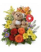 Get Well Beary Soon! Arrangement with bear