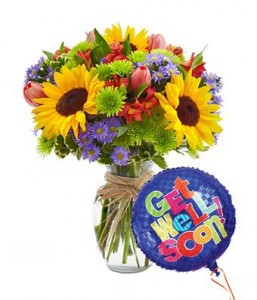 Get Well Bouquet Mixed Floral Celebration in Oxnard, CA | Mom and Pop Flower Shop