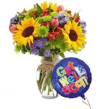 Get Well Bouquet Mixed Floral Celebration