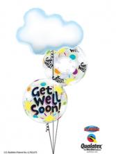 Get Well Cloud & Sunshine Balloon Bouquet