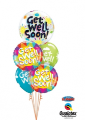 Get Well Colorful  Balloon Bouquet