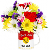 Get Well Flowers Cup of Soup