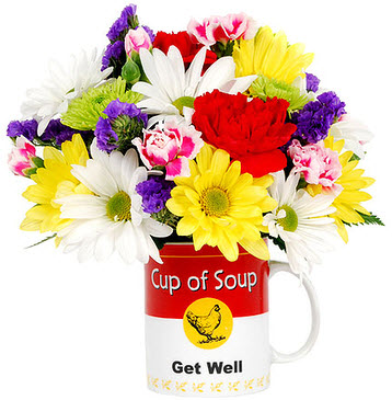 Cup of Flowering Soup Bouquet