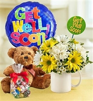 Get Well Mug Combo Arrangement  in Wellington, CO | WELLINGTON FLOWERS and MORE