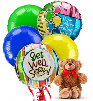 Get Well Soon Balloons Bouquet Get well in Coconut Grove, FL | Luxury Flowers